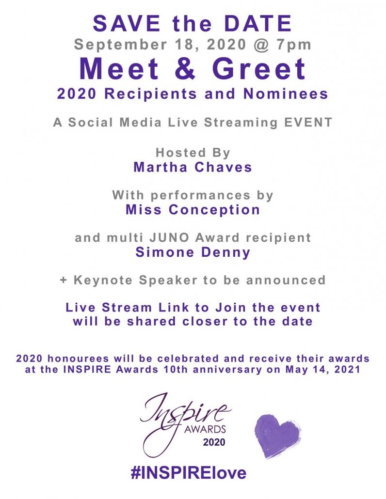 INSPIRE Awards 18Sep20 virtual live event