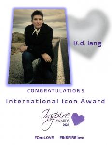 k.d. lang INSPIRE Awards 2021 International Icon Award Recipient