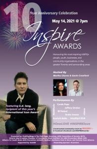 INSPIRE Awards Toronto 2021 10th Anniversary Poster Final